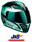 AGV STEALTH CATALYST FULL FACE MOTORCYCLE HELMET MOTORBIKE CRASH LID BLACK J&S