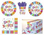 RADIANT Happy Birthday TABLEWARE & Balloon (Party/Celebration/Decoration)