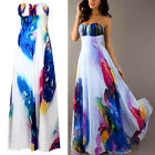 Sexy Women Boho Floral Long Maxi Bridesmaid Banquet Cocktail Evening Party Dress
