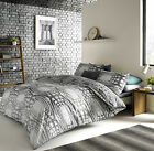 Aspen Charcoal Grey Geometric Sketch Duvet Cover Set - Blueprint By Ashley Wilde