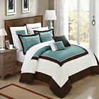 Ballroom Green, Brown & White 7 Piece Comforter Bed In A Bag Set