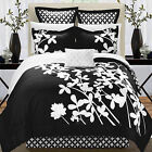 Iris Black & White 11 Piece Comforter Bed In A Bag Set