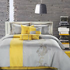 Ann Harbor Yellow Comforter Bed In A Bag Set 8 Piece