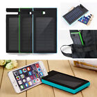 100000mAh Solar Waterproof Power Bank Dual USB Battery Charger For Mobile Phone