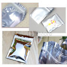 50 100 Pcs Aluminum Foil Pouch Packing Bag Ziplock Mylar Self Seal Sliver 100ml