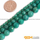 "Natural Green Russian Amazonite Gemstone Faceted Round Beads 15""4mm 6mm 8mm 10mm"