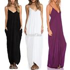 New Fashion Women Sleeveless Long Maxi Dress Party Sexy Evening Beach Dress S0BZ