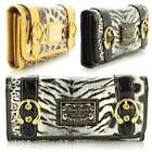 Ladies Large LYDC Anna Smith Patent Croc & Tiger Print Wallet Purse Clutch Bag