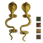 "LARGE SELECTION - 9"" PAIR BRASS COBRA SNAKE CABINET PULLS DOOR HANDLES Antique B"