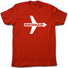 SWISS-AIR Vintage Airline Logo T-Shirt - Super Soft Cotton RETRO Airline Tee!
