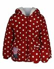 Peppa Pig:polka Dot Coat With Mittens,2/3,3/4,4/5yrs,new With Tags