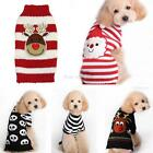 Dogs Puppy Elk Skull Christmas Santa Pattern Sweater Knitted Outfit Pets Clothes
