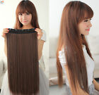 """Tengda One Piece Clip In Remy Human Hair Extensions Full Head 16"""" 100g 120g 140g"""