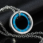 AgentX Necklace Simple Love Circle Pendant Stainless Steel Couple Chain 2 Colors