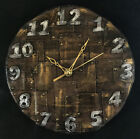 Steampunk wall clock -metal look -