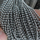 Lot Of 5/10Meters DIY Silver Stainless Steel Beads Ball Chain Size For Choose
