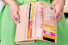 Fashion Women PU Leather Wallet Long Card Holder Women Handbag Bag Clutch Purse