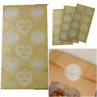 Small White Lace Effect Round / Heart Doilies Stickers With Clear Background