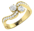 I1 H 1.00Ct Forever Us 2 Stone Real Diamond Solitaire Engagement Ring 14Kt Gold