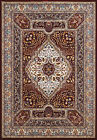 Red Medallion Curves Petals Traditional-European Area Rug Bordered 1900-01139