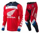NEW 2017 TROY LEE DESIGNS SE AIR CORSA HONDA GEAR COMBO RED/WHITE/BLUE SIZE 36/L