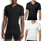New Spanx Men's Shapewear,Cotton Compression Vneck 610 Shirt Tee Black White