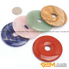 Wholesale Lot Assorted Stones Round Donut Beads For Pendant 1Pcs 30mm 40mm 50mm