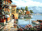 Beautiful Water Town Beside Lade Needlepoint Canvas 568