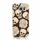 SKULLS & ROSES DESIGN PATTERNS MOBILE PHONE CASE COVER FOR SAMSUNG GALAXY S6