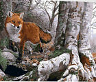Red Fox In Forest Beautiful Needlepoint Canvas 445