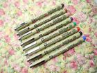 8 Colors set SAKURA MICRON 0.1mm Calligraphy for arts  with case(Japan)