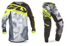 NEW 2017 FLY RACING KINETIC CRUX GEAR COMBO BLACK/HI-VIS ALL SIZES