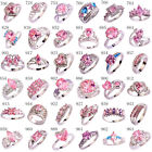 Fashion Women Party Jewelry Pink White Topaz AAA Gemstone Silver Ring Size 6-13