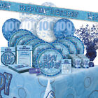 ALTER 100/100TH GEBURTSTAG BLAU GLANZ PARTY REIHE (Ballon/Dekorationen/Banner)