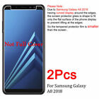 2X Tempered Glass Screen Protector For Samsung Galaxy A3 A5 A6 A6+ A7 A8 A8+ A9