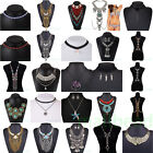Sexy Women Bib Charms Crystal Pendant Statement Chain Chunky Choker Necklace Hot