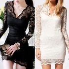 Sexy Black/White Lace Evening/prom dress/Formal/Party/Ballgown/Mini Dress S0BZ