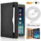 iPad Pro 9.7 inch Heavy Duty Leather Smart Case Cover+ HD Films/ Lightning Cable