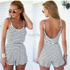 Sexy Women Stripe Jumpsuit Playsuit Mini Dress Romper Party Dress Clubwear S0BZ