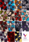 LARGE THICK SOFT SILKY 3D TEXTURED PILE PEBBLE STEPPING STONES RUG