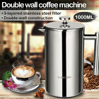 34oz/50oz Double Wall Stainless Steel French Coffee Press Maker Double Screens cheap