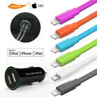Fast Charging Dual USB Car Charger Adapter/Lightning Charge&Data Cable iPhone 7