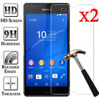 2X 9H Tempered Glass Screen Protector Film Guard For Sony Xperia Z3 Z4 Z5 M4 M5