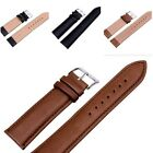 Fashion High Quality Unisex Leather Black Brown Women's Men's Watch Strap Bands image