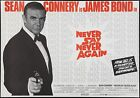 Home Wall Print - Vintage Movie Film Poster -NEVER SAY NEVER AGAIN- A4,A3,A2,A1 £5.99 GBP