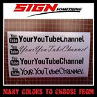 Large YOUR USER NAME You Tube Decal / Sticker *custom youtube*