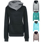 New Women's Fashion Long Sleeves Hoodies Sweeyshirt Hooded Coat Sweater Pullover