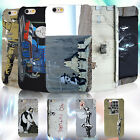 Funny Banksy Graffiti PC Hard Printed Cell Phone Case Cover Skins Protector New