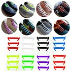 12pcs No Tie Elastic Silicon Shoelaces Running Walking Sneakers Shoe Lace Colors
