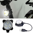 Bicycle Bike 3 LED Head Front Tail Warning Safety USB Light Taillight